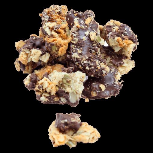Clusters de Coco con Chocolate Amargo - 1 Kg